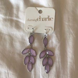 NWT purple earrings